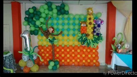 decoracion globos fiestas infantiles decoraci 243 n con globos fiesta infantil safari youtube