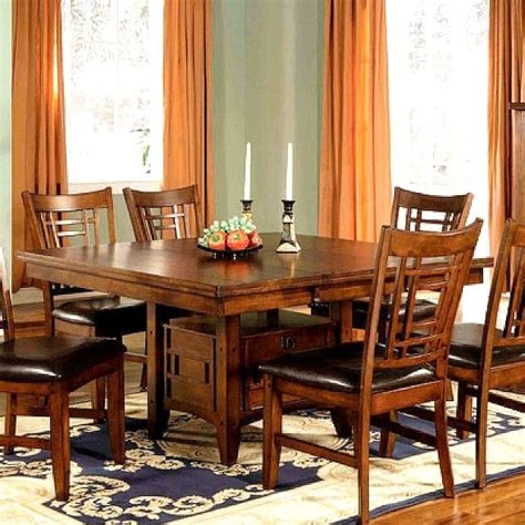 mission kitchen table mission craftsman pecan dining table w leaf mission