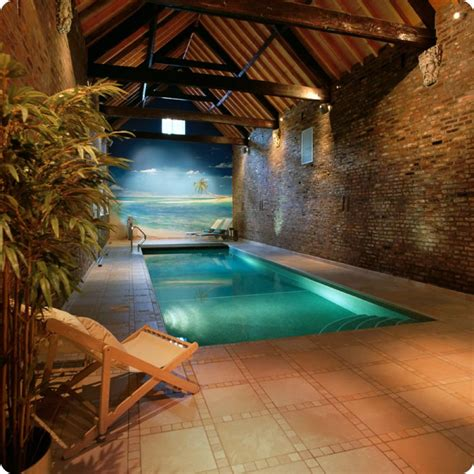 Amazing Indoor Swimming Pool Design With Wallpaper And Amazing Swimming Pool Designs