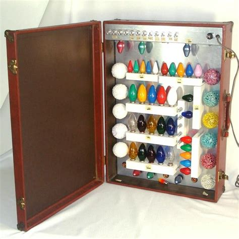 ge christmas light bulbs salesman sle display case 1960s