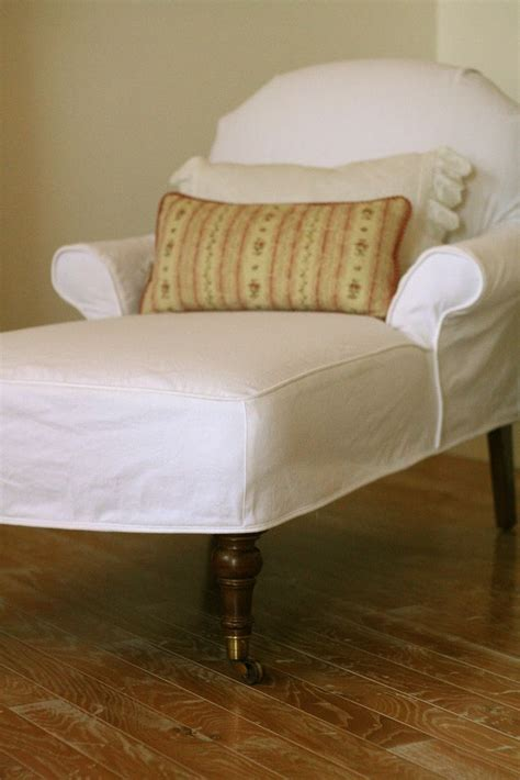 slipcovers for lounge chairs white denim slipcovered chaise custom slipcovers by