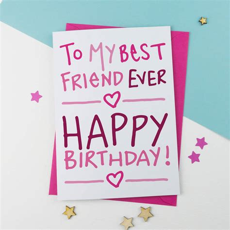 printable birthday cards for a best friend best friend birthday card by a is for alphabet