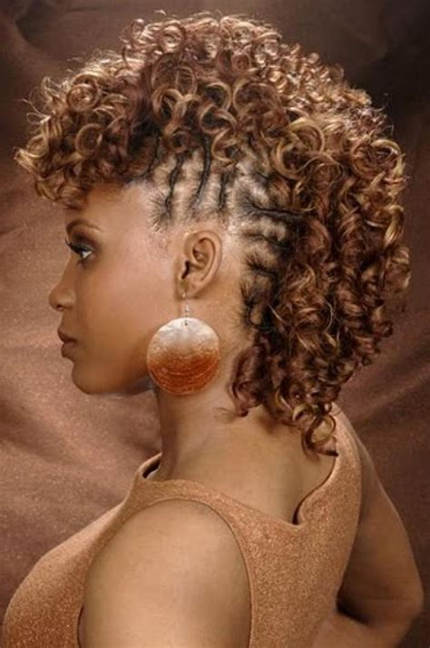 black braided hairstyles for short hair charming short black women mohawk hairstyle for black women charming