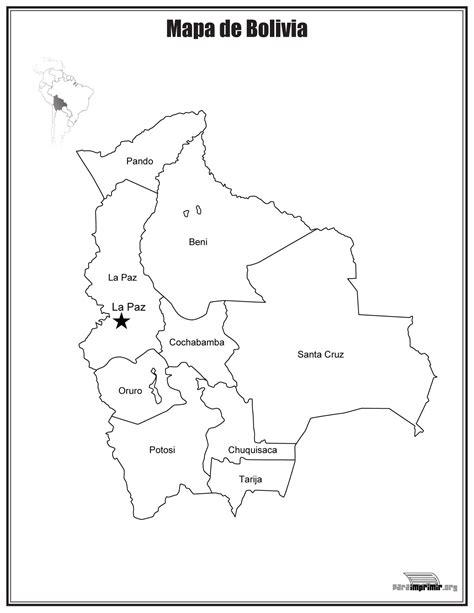da clic para ver en grande e imprimir mapa de bolivia con nombres para imprimir