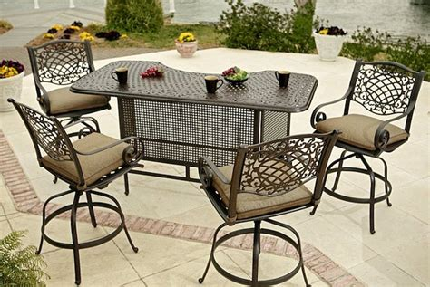 Outdoor Patio Furniture Bar Sets Outdoor Swivel Bar Stools With Backs And Arms Outdoor Swivel Bar Stools Counter Height