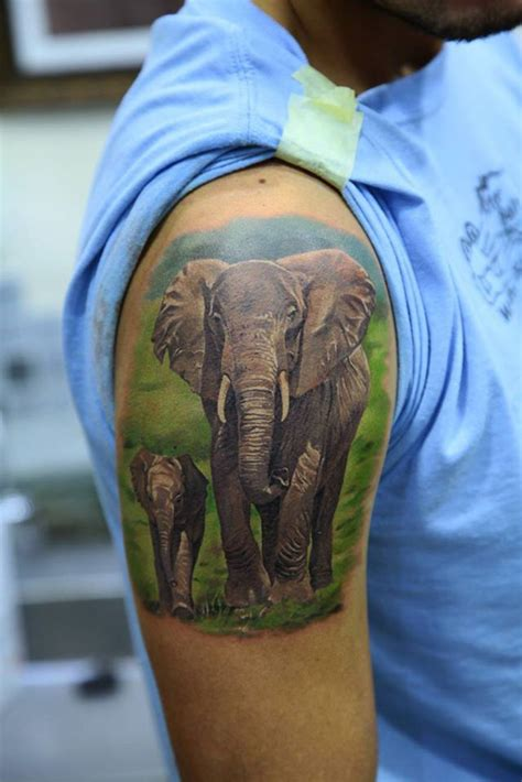elephant tattoo under arm 35 nice elephant tattoos desiznworld