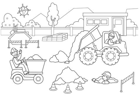 Free Construction Coloring Pages free coloring pages of construction cone
