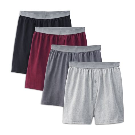 fruit of the loom premium fruit of the loom s 4 pack premium cotton knit boxers