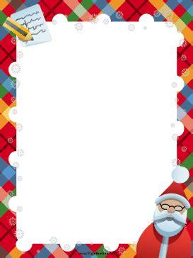 letter to santa border template santa list christmas border