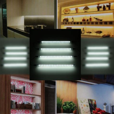 kitchen under cabinet led lighting 240v new lixada 4 packed ac 100 240v led under cabinet light