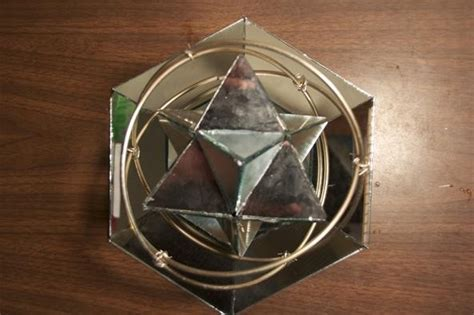 Origami Stellated Octahedron - rotating mirror stellated octahedron 171 math craft