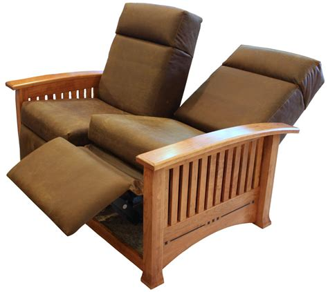 Modern Mission Double Recliner Loveseat Ohio Hardwood