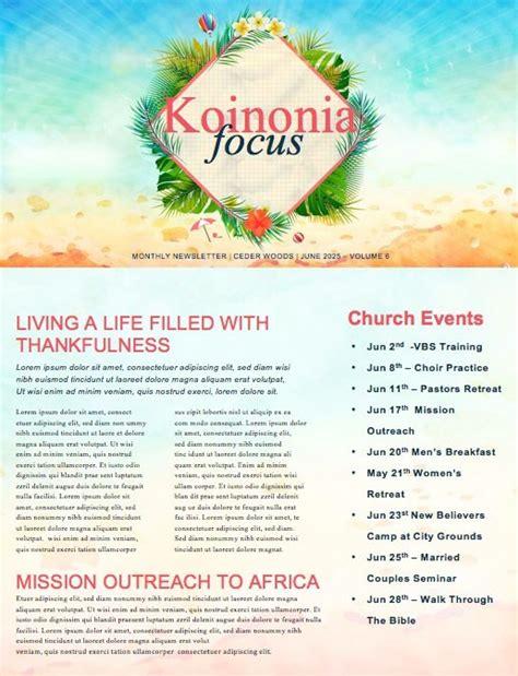 Summer Events Church Newsletter Template Newsletter Templates Upcoming Events Newsletter Template