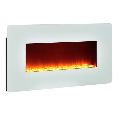 35 wall mounted electric fireplace in white 5033196com