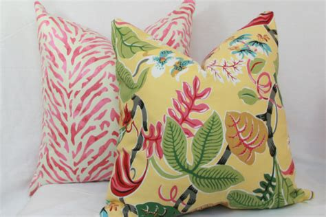 Tropical Throw Pillows For by Items Similar To Tropical Floral Decorative Throw Pillow