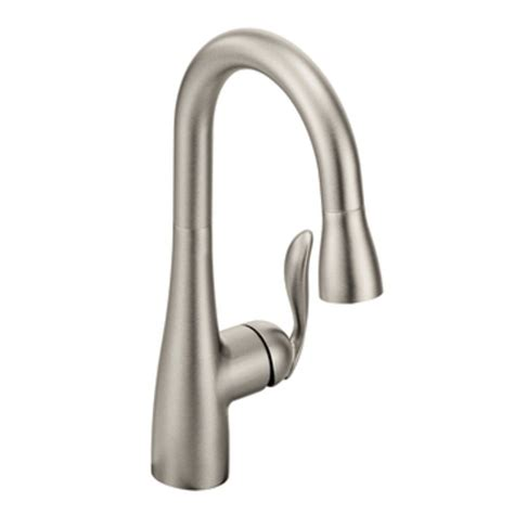 arbor kitchen faucet moen 5995csl arbor one handle high arc pulldown bar faucet