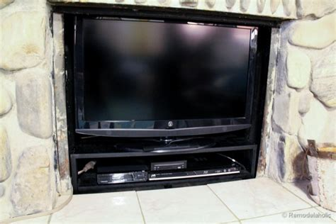 tv in front of fireplace cute valentine s mantel