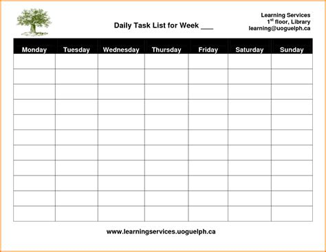 daily tasks schedule templates card for daily task template authorization letter pdf