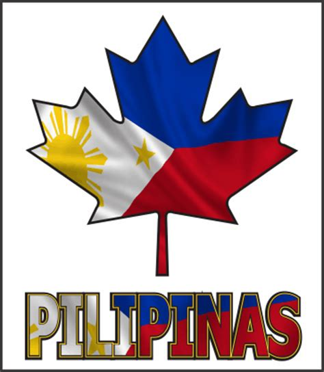 Canadian Mapleleaf With Philippines Flag Logo Filipino Philippines Canada Flag