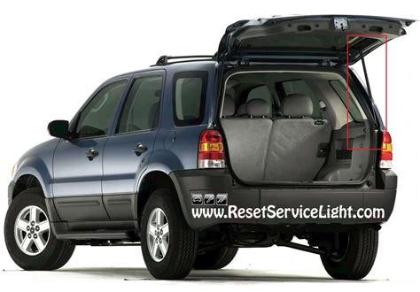 2001 ford escape manual backup diy change the back door support struts on ford escape 2001 2007 reset service light reset