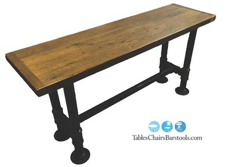 used restaurant table bases create a rustic industrial look with this 2 quot black iron