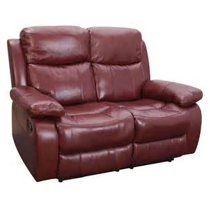 portofino 2 seater leather recliner sofa next day