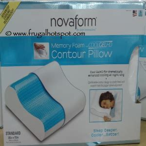 Novaform Gel Pillow by Costco Deal Novaform Memory Foam Cool Gel Contour Pillow