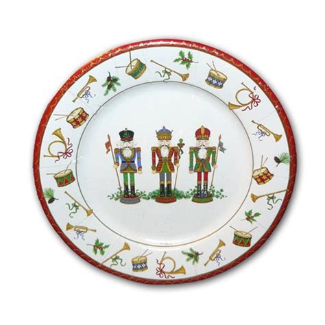 christmas nutcrackers dessert plates paperstyle
