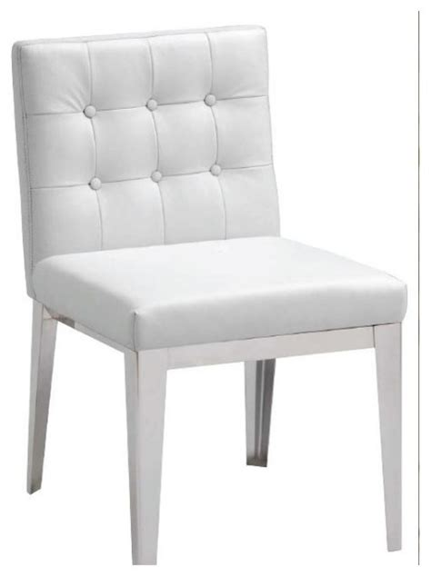 Contemporary White Dining Chairs White Leather Dining Chair Contemporary Dining Chairs By Inside Avenue