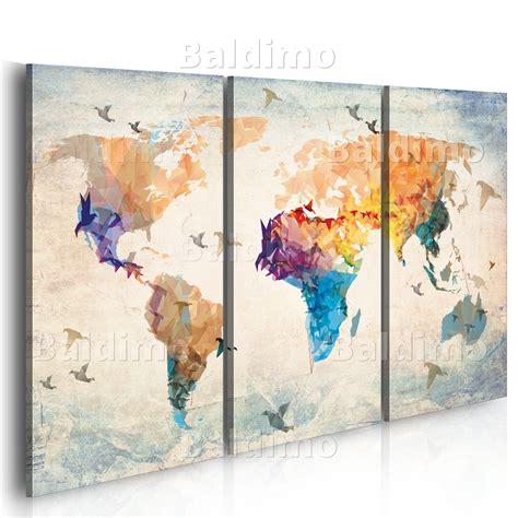 Bilder Und Drucke by Wandbilder Weltkarte Landkarte Leinwand Bilder Drucke
