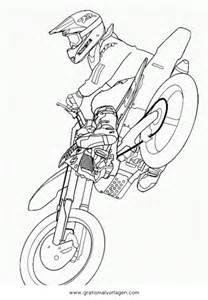 F&252r Kinder Malvorlagen Und Malbuch • Motocross Sketch Coloring Page sketch template