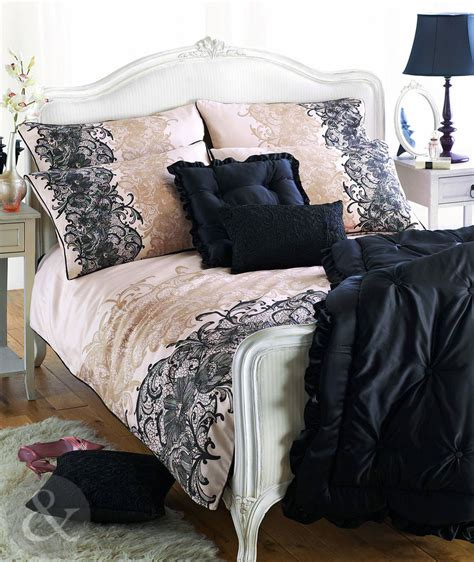 luxury lace print duvet cover 300tc 100 cotton sateen