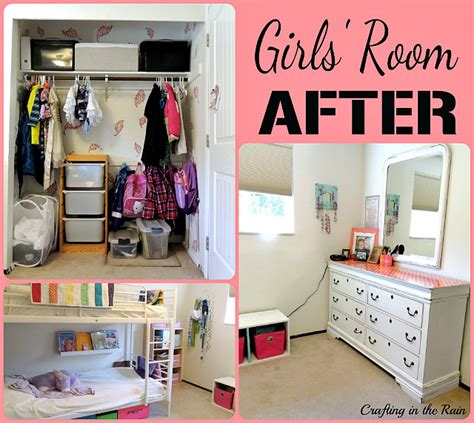 kids room organization ideas cleaning up the girls room crafting in the rain