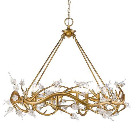 golden lighting chandelier golden lighting aiyana 8 light gold leaf chandelier with