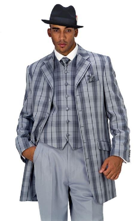 Diskon Milan Greey moda gray plaid vested suits 28189v