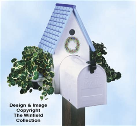 yard garden projects birdhouse planter mailbox pattern