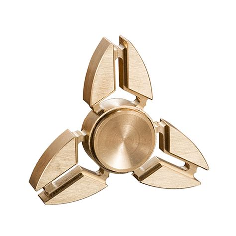 Top Fidget Spinner Spinner Toys Original Metal 3 Side fidget spinner 3 angle edc metal gold