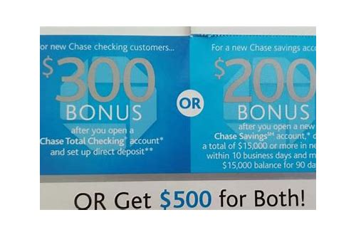 chase coupon new account 2018