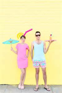 diy tropical drink pool boy couples costume studio diy