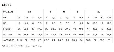 shoe size chart net a porter french shoe size to us shoes for yourstyles