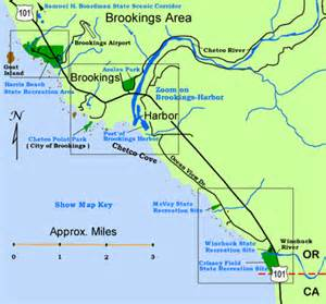 map brookings oregon s guide to oregon s south coast