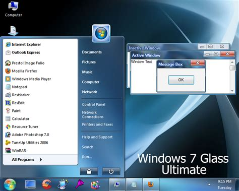 windows 7 ultimate themes download for xp windows 7 glass ultimate by vher528 on deviantart