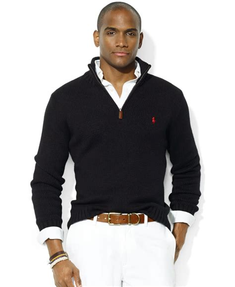 lyst polo ralph high twist cotton half zip