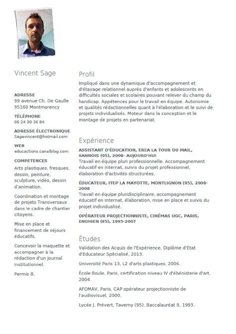 Exemple De Lettre De Motivation Vae Educateur Specialise Modele Cv Educateur Technique Specialise Cv Anonyme