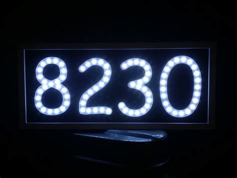 lighted house numbers led address sign routed engraved back lit lighted sign house number plaque ebay