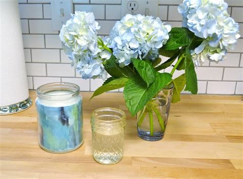 decoupage waterproof decoupage watercolor diy vase mod podge rocks