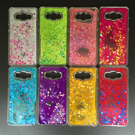 glitter dynamic liquid cover for samsung galaxy 2015 j1 j2 j3 j5 j7 a3