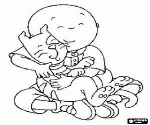 caillou coloring pages book printable color sketch template