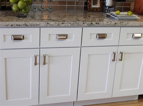 hardware ideas for white shaker cabinets mf cabinets