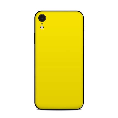 apple iphone xr skin solid state yellow by solid colors decalgirl